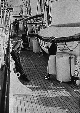 1933 – Baron Kuffner proposes marriage to Tamara, which she accepts on the advice of her mother.In view of the growing influence of the Nazis in Europe, her sense of insecurity increases, causing her throughout the nineteen-thirties to urge her husband to sell the greater part of his estates in Hungary.Image: Tamara on a cruise ship, 1932